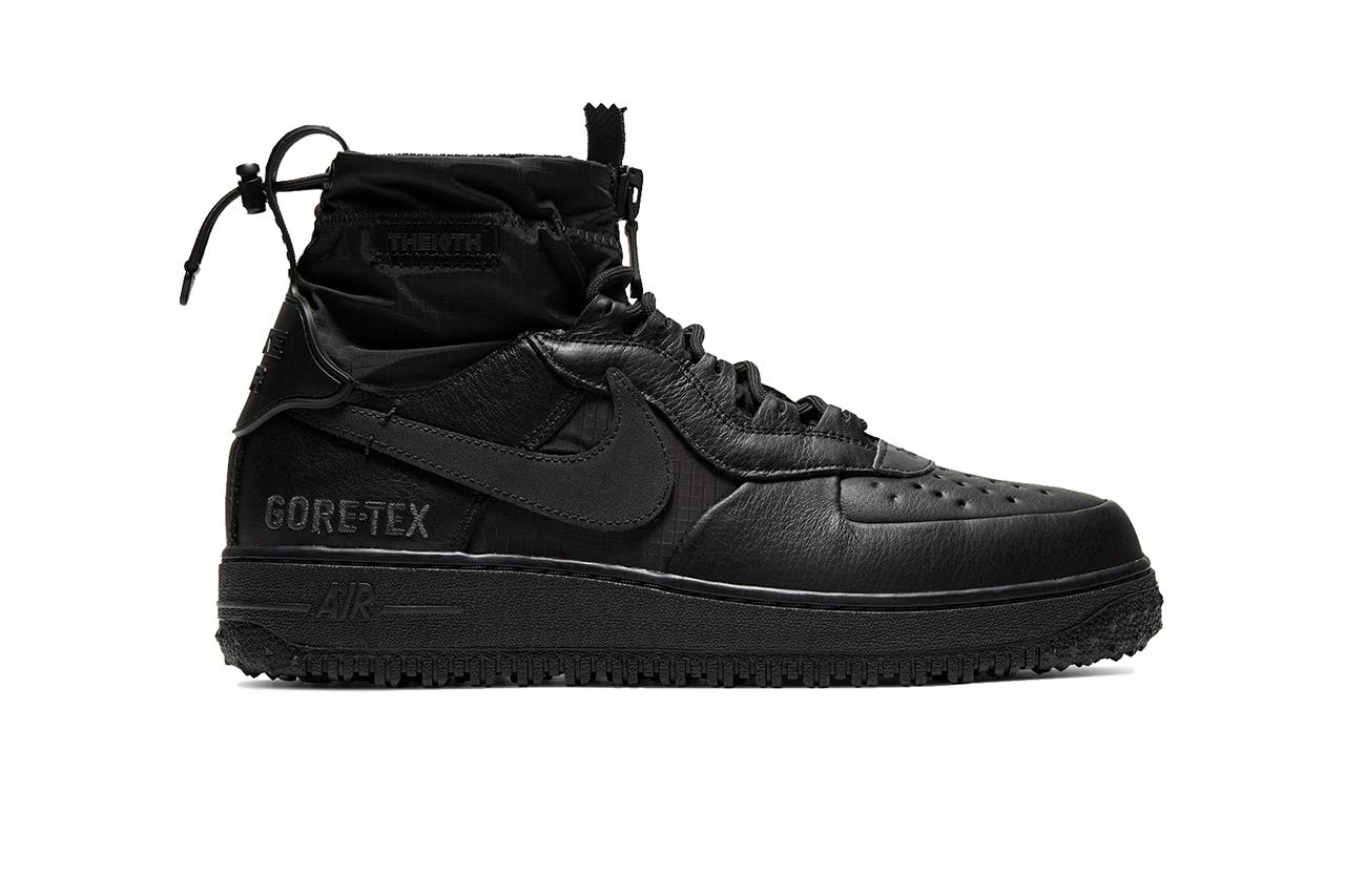 Nike veste Air Force 1 em GORE TEX contracoutura